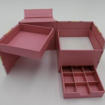 decorative paper storage box with lid