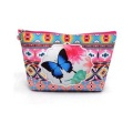 Custom Logo 3 Pieces Set Cute Animal Pattern Printed PU Leather Cosmetic Bag