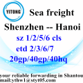 Shenzhen Sea Freight Shipping Services to Hanoi