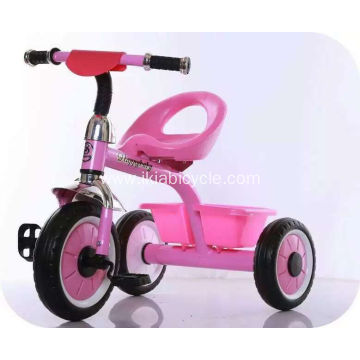 New Plastic and Steel Frame Baby Tricycle