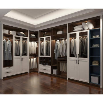 Dark Walnut Customized Wardrobe Eckgarderobe