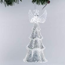 Lowest Price for Glass Angel Glass Hand Made Blown Angel Christmas Ornament LED Light export to Angola Factories