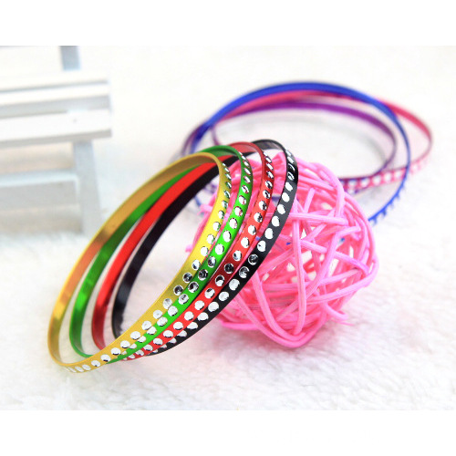 Colorful Metal Bangle Thin Aluminum Bracelet Bangles