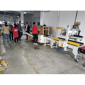 Dyehome automatic sealing and strapping machine