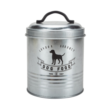 Dog Food Storage Tin and Feeder Station