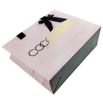 Matte Lamination Logo Stamping Shopping Packaging Gift Bag