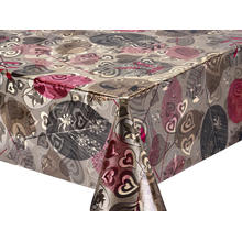 Double Face Emboss printed Gold Silver Tablecloth Kingston