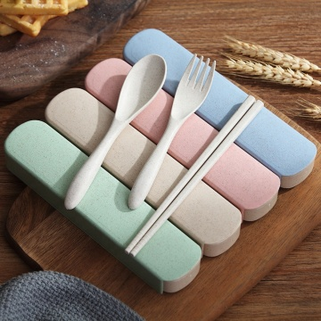 Reusable Portable Convenient Wheat Straw Cutlery