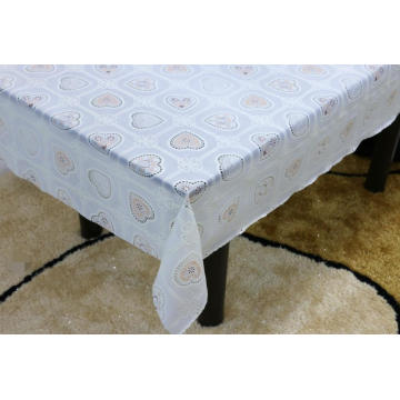 Printed pvc lace tablecloth by roll modern
