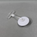 Round disc plastic card clips