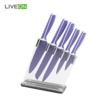 Kitchen Cooking 6pcs Kitchen Knife Set with Acrylic