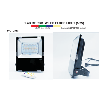 2.4G RF RGBW 50w led flood light