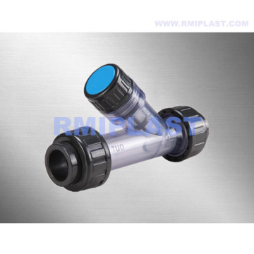 Plastic PVDF Y Strainer For Industrial