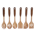 Beech wood kitchen utensil with zebra wood handle