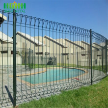 Green Welded Roll Top Fence with ISO9001
