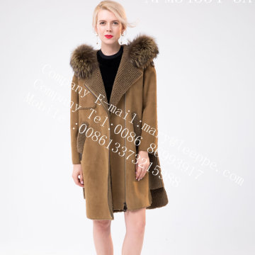 Women Medium Hooded Fur Overcoat