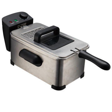 Deep Fryer with Basket,Stainless Steel,Easy to Clean 2.6-Pound, Silver