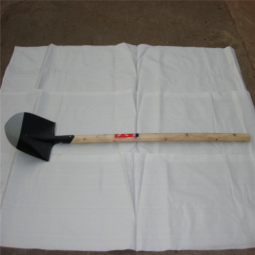 Personlized Products for Snow Shovel wooden handle V Plastic grip carbon steel shovel supply to Italy Factory