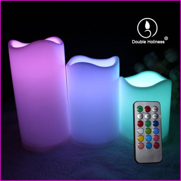 led bulb electric votive waves pillar candles light