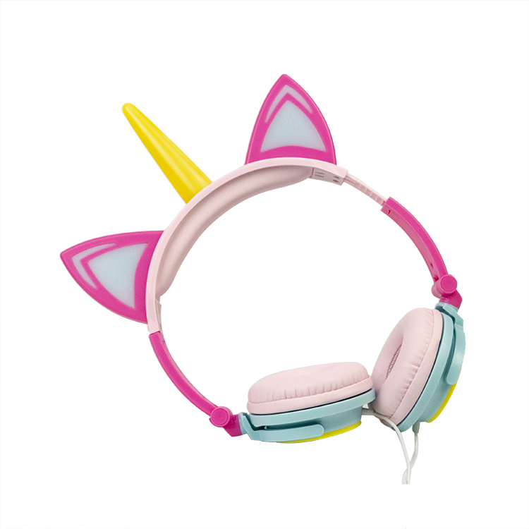 Light Up Unicorn Headphones