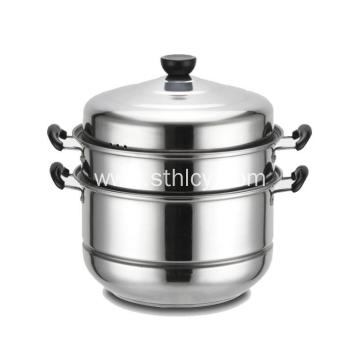Double Layers Stainless Steel Food Steamer Pot