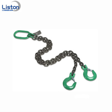 Welded G80 Steel 2 Leg Lifting Chain Sling