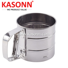 Mesh Mechanical Stainless Steel 1 Cup Tepung Sifter