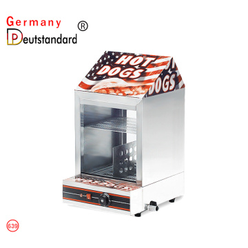 Commercial hot dog warmer and bread display