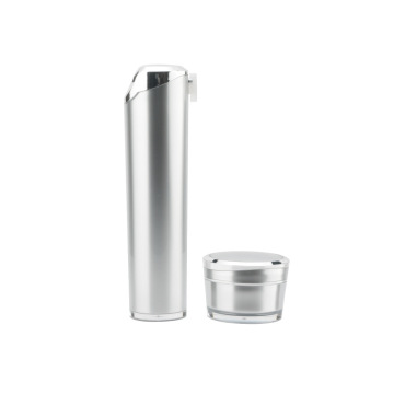 Acrylic silver white moon vacuum cosmetic bottle