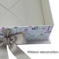 Grey Silk Ribbon Ornament Colorful Design Folding Paper Box