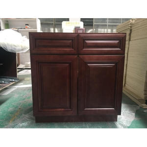 American Style Solid Wood UV Kitchen Cabinet