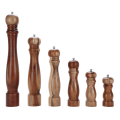 Acacia wood pepper mill & salt