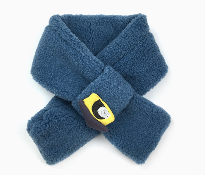 Comfortable Polar Fleece Scarf Blue