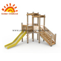 Wooden Slide Outdoor Playground Facility For Sale