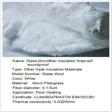 Glass Microfiber insulation fireproof soundproof