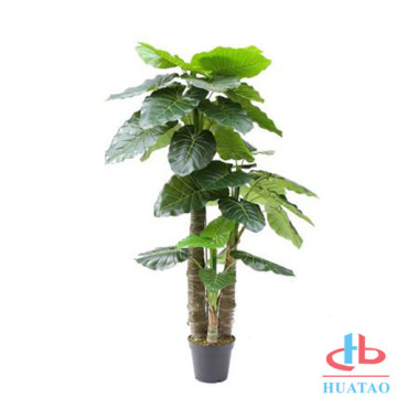 Geometric eco-friendly artificial plant pot for indoor
