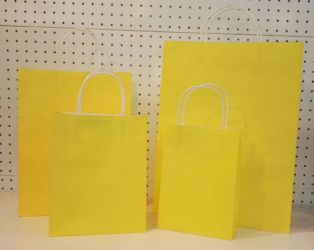 Paper Bag Gift Yellow