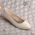 White Wedding Flat Shoes for Bride