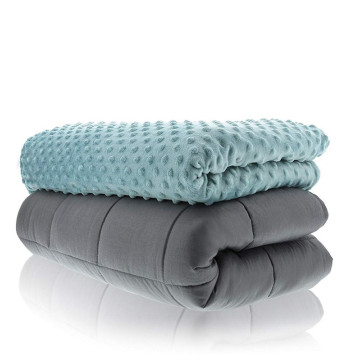 cotton weighted blanket of high quality 20lbs 48*72""