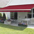 Retractable arms awning 3*1.2M Green/White Stripes