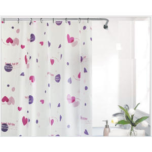 Printing White Plastic Shower Curtain
