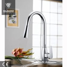 Contemporary Rotating Spout Pull-Out Kitchen Faucet Mixer