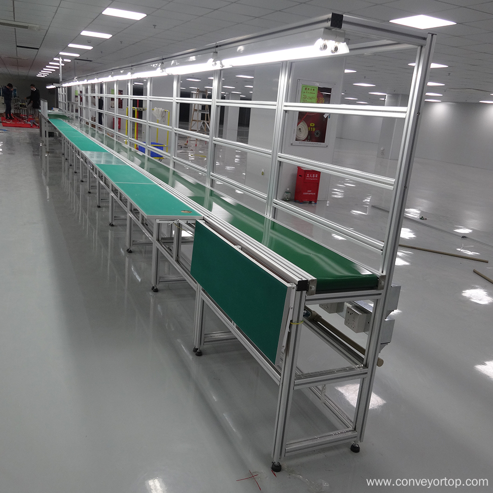 PVC Belt Conveyor System with Long Working Table