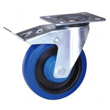 6 inch swivel caster with elastic rubber wheel