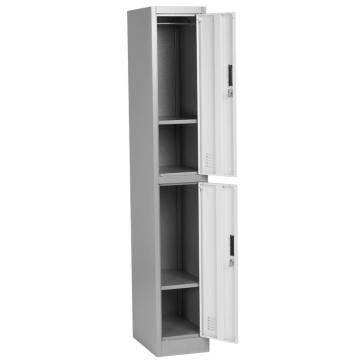 Plastic Handle 2 Door Tier Metal Locker