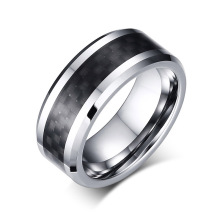 10 Years for Engraved Tungsten Rings Tungsten carbide ring with carbon fiber inlay supply to Russian Federation Wholesale