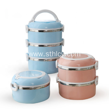 Round Stainless Steel Portable Thermal Lunch Box