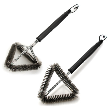 Plastic Long Handle Triangle Grill Clean Brush