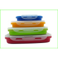 Colorful Food Grade Silicone Lunch Bento Box