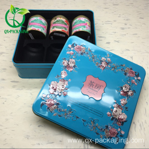 eco-friendly hot sale tea packaging cylinder tin box